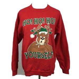 HO HO HO Youself printed Christmas sweatshirt